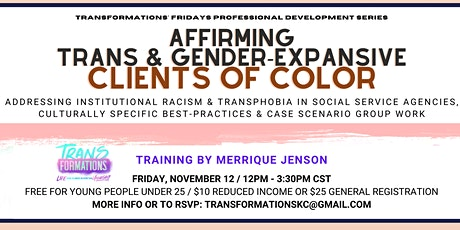 Supporting Transgender & Gender-Expansive Clients of Color tickets