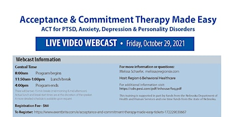 Acceptance and Commitment Therapy Made Easy tickets