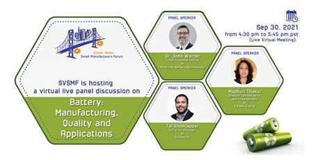 Batteries - Manufacturing, Quality, and Regulations tickets