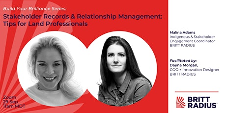 Stakeholder Records & Relationship Management: Tips for Land Professionals tickets