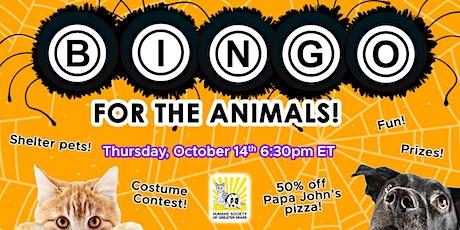 Virtual Bingo for the Animals - Spooky Edition tickets
