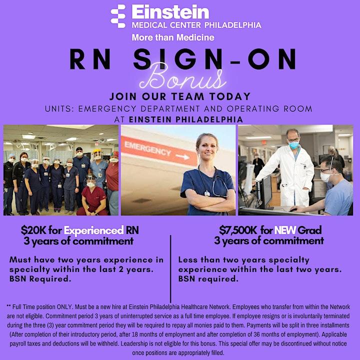 ED, Trauma & Observation Units  - Virtual Recruitment Event 10.11.2021 image
