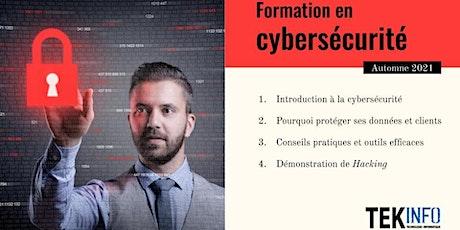 Formation en Cybersécurité billets