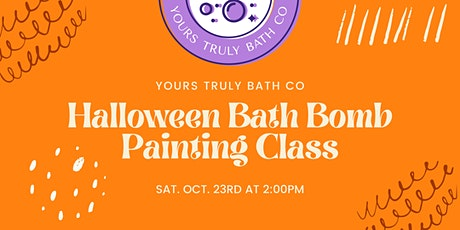 Halloween Bath Bomb Painting Class tickets