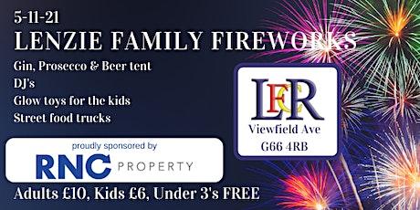 Lenzie Family Fireworks 2021 sponsored by RNC Property tickets