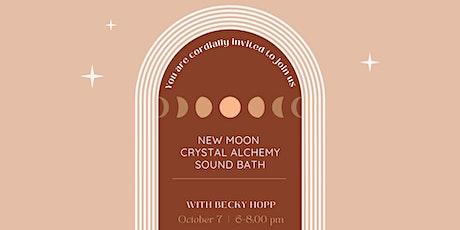 New Moon Crystal Alchemy Sound Bath & Shopping tickets