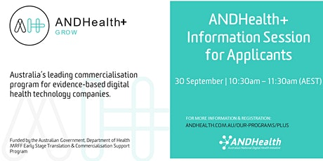 ANDHealth+ 2021 Information Session for Applicants tickets