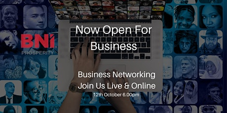 Business Networking Live & Online. Now Open For Business tickets