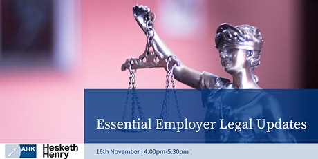 Essential Employer Legal Updates tickets