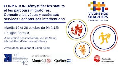 Démystifier les statuts migratoires - Former pour l'inclusion - 19 & 26 oct billets