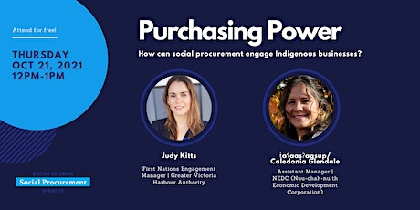 Purchasing Power: How can social procurement engage Indigenous businesses? tickets