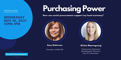 Purchasing Power: How can social procurement support my local economy? tickets