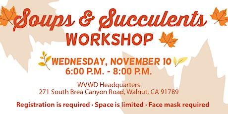 Soup & Succulent Fall Workshop tickets