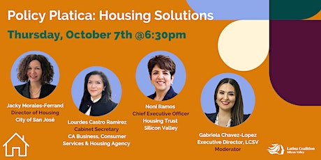 Policy Platica - California Housing Solutions tickets