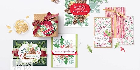 Sip & Stamp Holiday Card Making Class tickets
