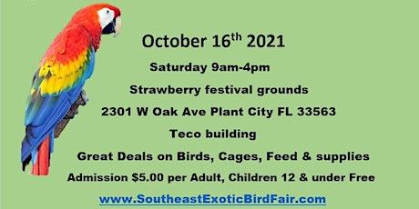 Southeast Exotic Bird Fair Plant City Fl tickets