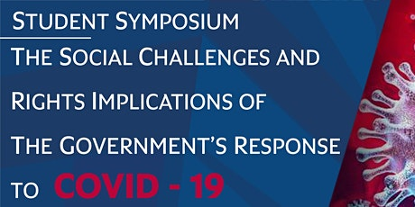 Student Symposium on Impacts of Government Responses to COVID-19 tickets
