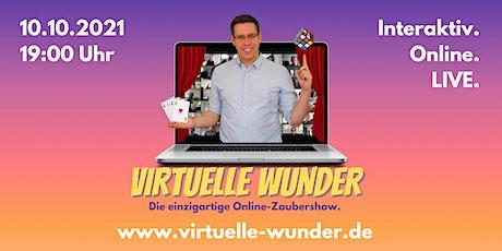 VIRTUELLE WUNDER - die Zaubershow über Zoom. Interaktiv. Online. Live. Tickets