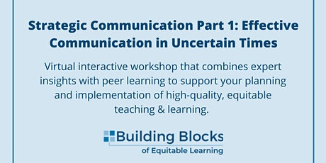 Effective Communication in Uncertain Times tickets