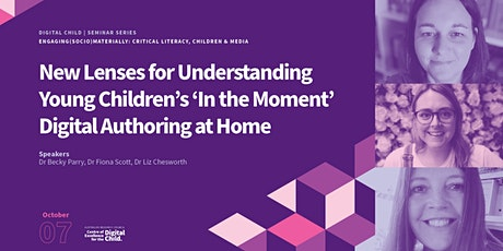 New Lenses for Understanding Children's 'In the Moment' Digital Authoring tickets