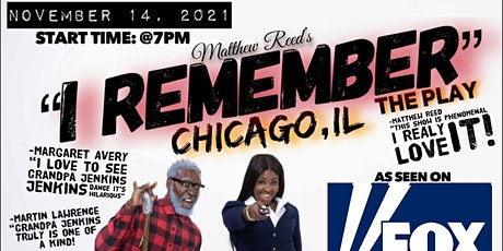 """Matthew Reed's """"I Remember"""" Stage Play Tour tickets"""