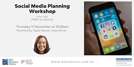 Social Media Planning Workshop tickets