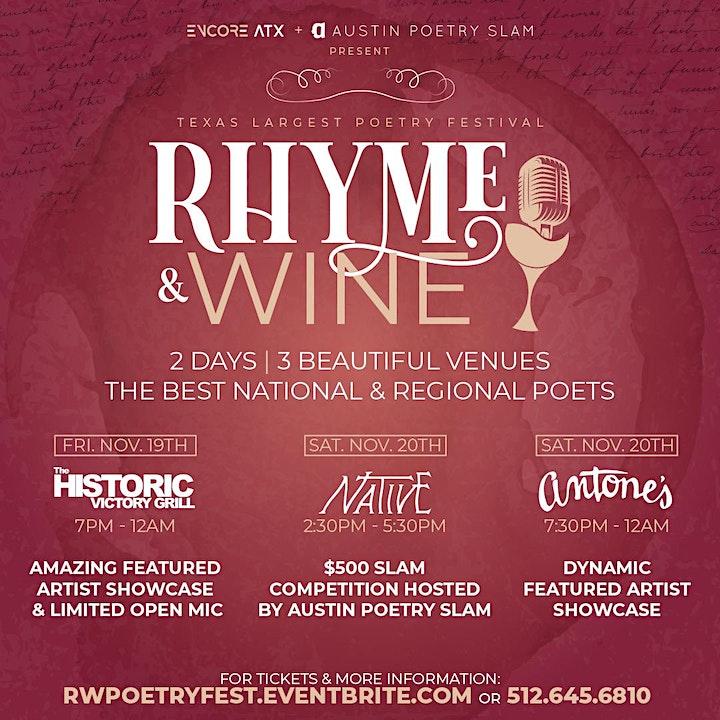 Rhyme & Wine Poetry Festival 2021 image