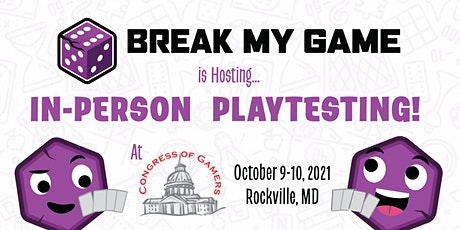 Congress of Gamers - Playtesting Signup tickets