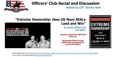 NGA-NE Officer's Club September Discussion and Social tickets