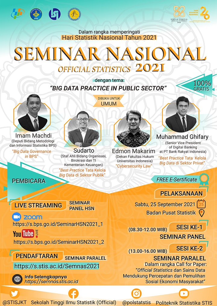 Seminar Nasional Official Statistics 2021 (SEMINAR PARALEL) image
