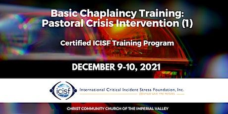 Basic Chaplaincy Training:  Pastoral Crisis Intervention (1) entradas
