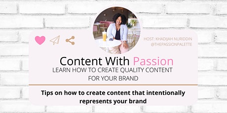 Copy of Content with Passion: Create Quality Content for your Brand tickets
