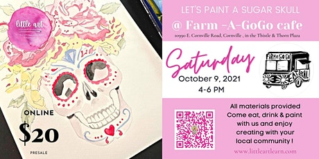 Let's Paint a Watercolor Sugar Skull! tickets