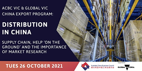 ACBC Vic China Export Program - Distribution in China tickets
