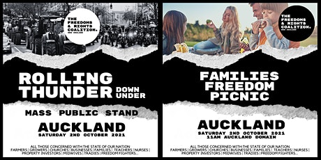 #FreedomsNZ - Auckland stand tickets