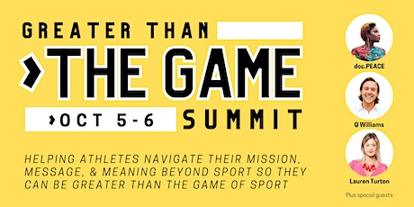 Greater than the Game Summit tickets