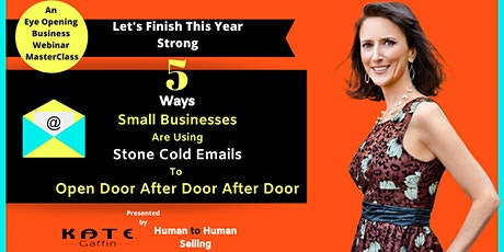 5 Ways Small Businesses Are Using Cold Email To Open Incredible New Doors tickets
