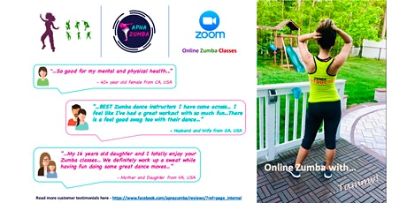 Free Online Zumba Class for Oct (Wed) - 30min. tickets