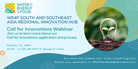 WE4F South and Southeast Asia Call for Innovations Q&A Webinar tickets