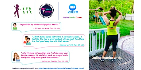 Free Online Zumba Class for Nov (Wed) - 30min. tickets