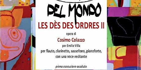 Les dès des ordres - opera di Cosimo Colazzo per Emilio Villa biglietti
