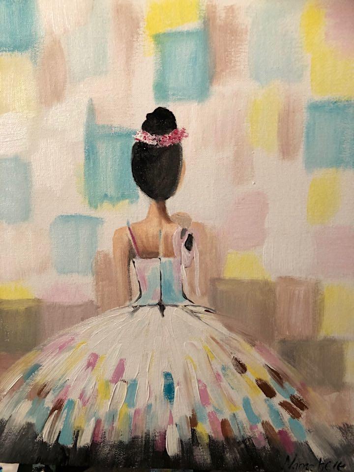ONLINE Paint Along @ Home -- Ballerina image