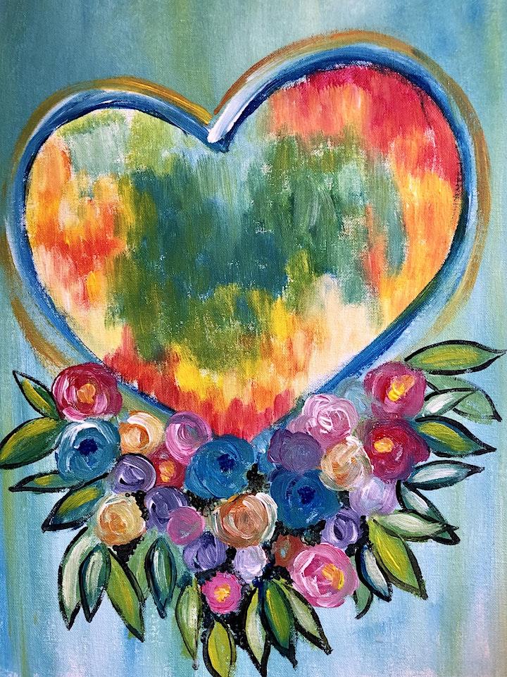 ONLINE Paint Along @ Home -- Love Heart image