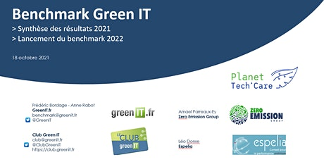 Benchmark Green IT 2021 et 2022 billets