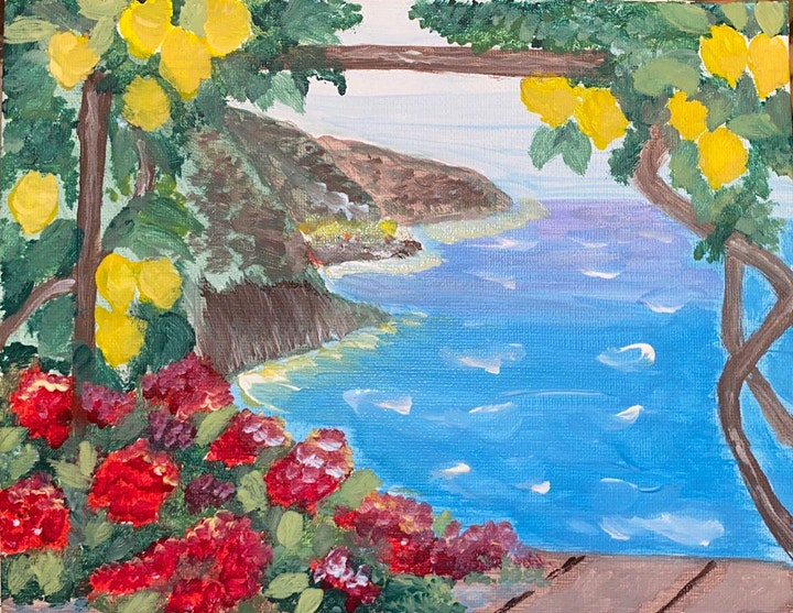 ONLINE Paint Along @ Home -- Lemontree image