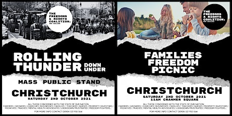#FreedomsNZ - Christchurch stand tickets