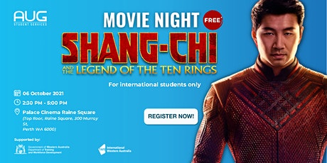 [AUG Perth] Movie Night - MARVEL'S Shang Chi tickets
