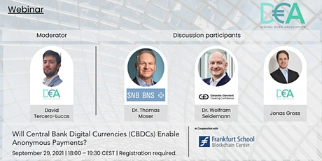 Will central bank digital currencies enable anonymous payments? tickets