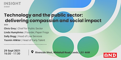 Technology and the public sector: delivering compassion and social impact tickets