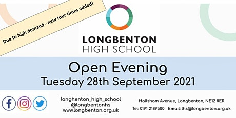 Longbenton High School Open Evening - Additional Tour Slots tickets